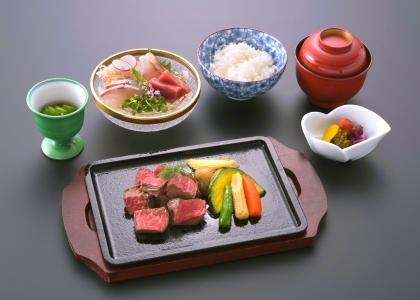 和食ランチ(長崎和牛ステーキ御膳)